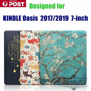 For Kindle Oasis 2017 / 2019 7-inch TPU Pattern Creative Flip Pattern Case Cover