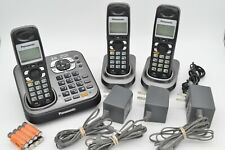 Panasonic DECT 6.0 KX-TG9341T Answering Machine and 3 Handsets