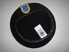 US Army 504th INFANTRY Regiment AIRBORNE Black Color Wool Beret Made In USA
