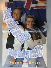 KYLIE MINOGUE & JASON DONOVAN centre-spread poster 46x30cm MAGAZINE PWL POP 80s