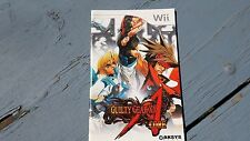 WII Instruction Manual Book Guilty Gear XX Accent Core Free Shipping