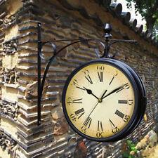 Large Outdoor Garden Kensington London Wall Clock Outside Bracket  Double Sided