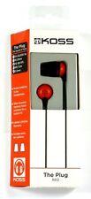 185315  KOSS The Plug In-Ear Headphones (Red), Comfort Memory foam Ear cushions