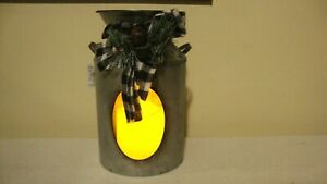 Milk Can accent Light in Distressed Tin- Battery Operated