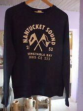 Dunkelblaues L.O.G.G. H&M Nantucket Sound Sweatshirt Pullover Gr. S