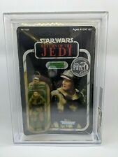 Star wars ROTJ POTF Leia (Combat Poncho) Tsukuda Seal Leia Coin AFA 80-QY NM