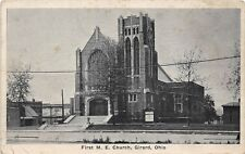 B22/ Girard Ohio Postcard c1910 First M.E. Church Building