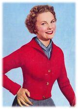 Lady's 1950s DK Sailor Collar Jacket Knitting Pattern 10140
