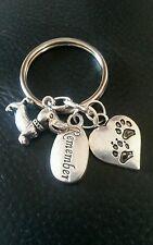 Pet deuil porte-clés Angel Patte Keychain en mémoire de chien sympathie Charms