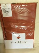 Yves Delorme Full/Queen Flat Sheet Galant 94x116 Cuivre Nwt! Orange Sateen
