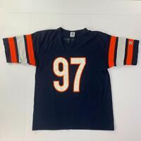 Vintage Logo 7 Chicago Bears Chris Zorich Football T-Shirt Men's Made in USA