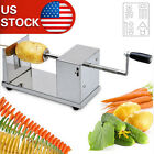 New Manual  Spiral Potato Twister Tornado Slicer Cutter Machine Stainless Steel