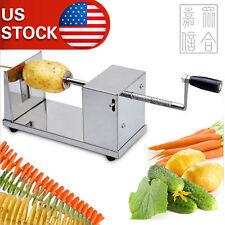 New Manual  Spiral Potato Twister Tornado Slicer Cutter Machine Stainless Steel
