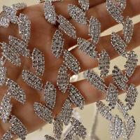 Leaves Crystal Rhinestone Trims Diamante Chain Applique Bridal Dress Sash Belt