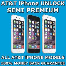 SEMI PREMIUM PERMANENT FACTORY UNLOCK For AT&T IPHONE 7 Plus 7+ 6s Plus 6s+ SE 6