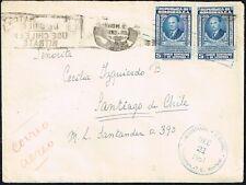 824 Honduras To Chile Cover 1951 Tegucigalpa - Santiago