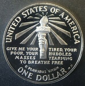 US - Silver 1 Dollar Coin - 'Statue of Liberty' - 1986 - Proof