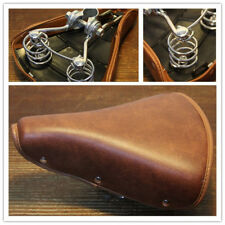 Brown Retro Vintage Bike Bicycle Seat Saddle Brown Comfort Soft Spring Cruiser