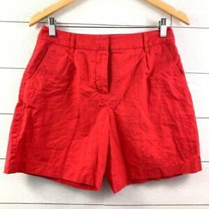 Boden Red Linen NWOT Shorts Size 4 Women's