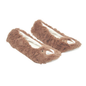 Aussie Women Winter Comfy Fluffy Fur Anti-Slip Slippers Soft Warm Ballet Shoes