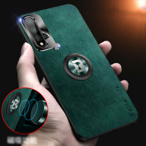 For Huawei P40 Pro P30 P20 Mate 30 Ring Car Holder Stand Hard Back Case Cover