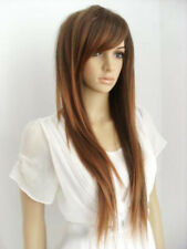 New Fashion Long Brown Mix Straight Women Lady Cosplay Anime Hair Wig Wigs + Cap