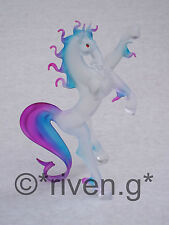 LARGE HORSE Figurine@PREMIUM Glass REARED STALLION@EQUESTRIAN Gift@RACING STABLE