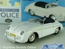 PORSCHE 356 MODEL CAR POLICE POLIZEI 1:43 SCALE VANGUARDS WHITE VA07901 356A K8