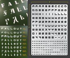 Sci-Fi Lettering Airbrush Stencil 3 Lettering Schablonen Maskierung Buchstaben