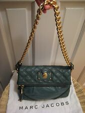 Marc Jacobs Mayfair Quilted Chain Foldover Shoulder Bag, Forest