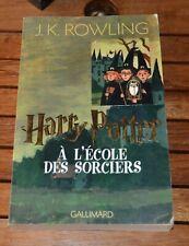 HARRY POTTER à L'école des Sorciers Tome 1 JK ROWLING Grand format Gallimard