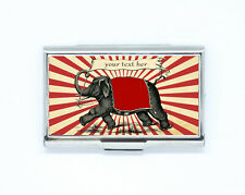 Business & Credit Card Case elephant personalized with name Steel Pocket Box