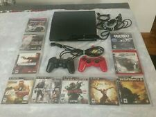 PS3 Slim Console Bundle with 10 Games & Accessories