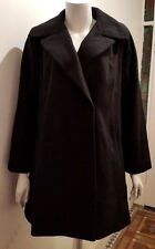 NEW ASOS Women's Black Wool Blend Coat - 6