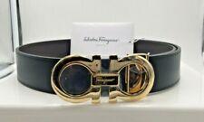 Salvatore Ferragamo Mens Reversable Belt Sz 32 Black / Brown