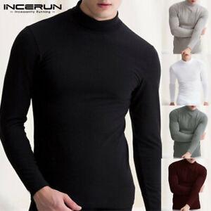 Men's Thermal Underwear Long Sleeve Shirt Top Ski Warm Winter Vest Tops Autumn