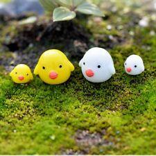 4pcs/lot Figurine Cartoon Chicken Landscape Decoration Garden Ornaments