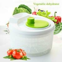 Salad Spinner Vegetable Lettuce Dryer Server Serving Bowl Container O3C7