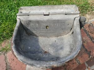 Vintage Cast Iron Cattle Water Trough.Ideal Garden Wall Planter Pot or upcycling