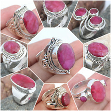 RUBY CORUNDUM 925 SOLID STERLING SILVER JEWELRY RINGS ALL SIZE CHRISTMAS GIFT