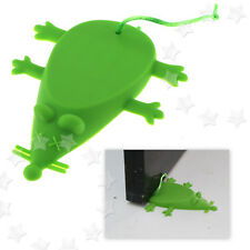 Silicone Rubber Mouse Door Floor Stop Wedge Safety Stopper Green Home Office