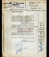 """BOURGES (18) GARAGE du CENTRE / CONCESSIONNAIRE """"AGENCE RENAULT"""" 4CV en 1950"""