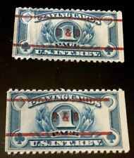 US PLAYING CARDS REVENUE STAMPS RARE B&B BROWN AND BIGELOW PRECANCELS!