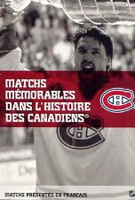 FRENCH  10 DVD SET MEMORABLE GAMES IN MONTREAL CANADIENS HISTORY-& PUCK CHARGER