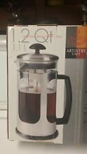 French Press Coffee Press Artistry Cafe Deluxe Stainless Steel 1.2 qt. New