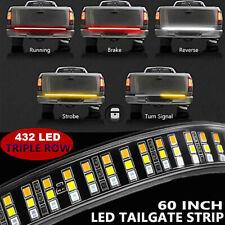 60in Truck Tailgate 432 LED Light Bar Brake Reverse Turn Signal Stop Tail Strip