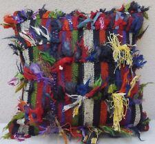 Shaggy Rug Pillow Cover,Vintage Area Rug Shag Carpet Throw Cushion 20x20 inch