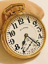 *SERVICE* Illinois Bunn Special 16S 21J 161A 60 Hr Elinvar Salesman Pocket Watch