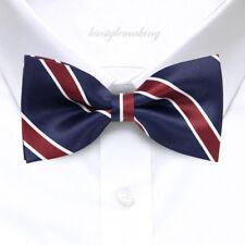 *Brand New* Navy Retro Stripes Tuxedo Boys Bow Tie B333