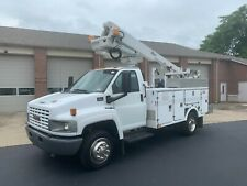 2006 Gmc C-5500 41 Ft Altec Boom Bucket Truck Cable Placer Puller Articulating